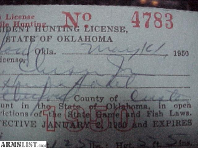 Armslist for sale 1950 hunting license w 2 migratory for Kansas fishing license online