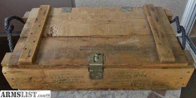 Wooden Army Ammo Boxes Collectors Army Wood Ammo Box