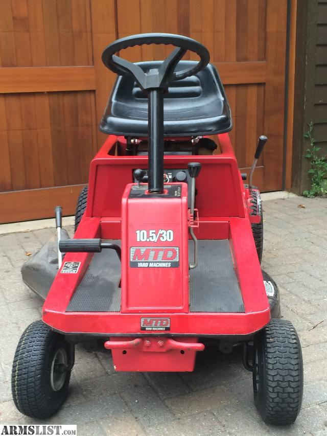 ARMSLIST  For SaleTrade  Riding mower     MTD        Yardman        10