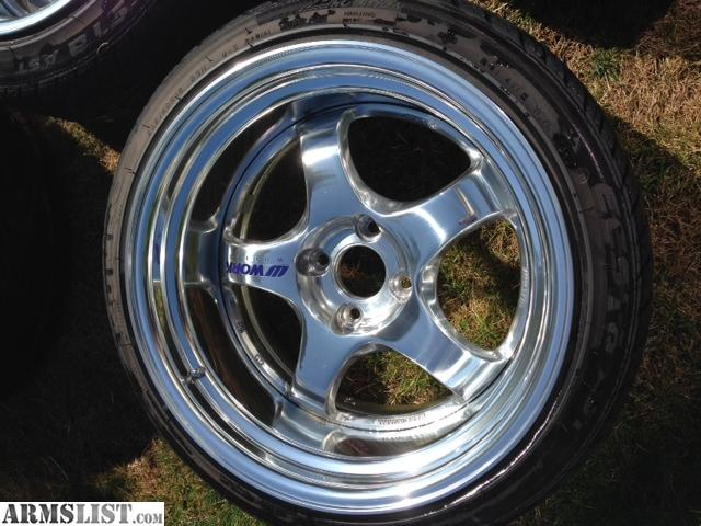 Tires Plus Wheels >> ARMSLIST - For Sale: 16X9 -6 WORK MEISTER 4X100 BOLT FULL POLISH - $2700