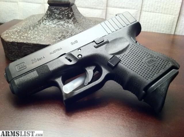 Glock 26 gen 4 in new condition with box  two mags and raven vanguard    Glock 26 Gen 4