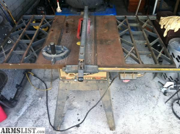 Armslist for sale trade craftsman 10 table saw cast for 10 cast iron table saw