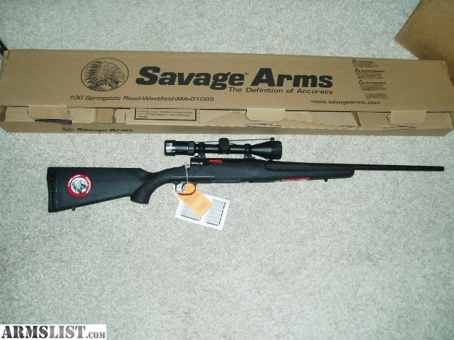 armslist  sale savage axis ii xp bolt  win  black synthetic waccutrigger