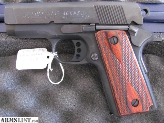 For sale colt new agent 45 1911 3 in barrel pictures to pin on