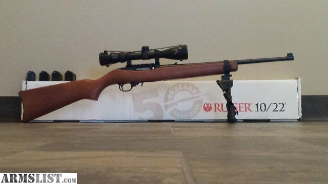 Armslist for trade ruger 10 22 50th anniversary