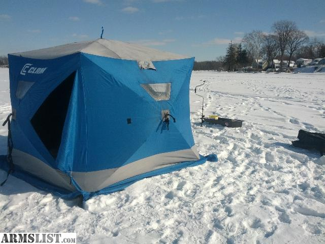 Armslist for sale clam bigfoot xl2000 pop up ice shanty for Ice fishing shanty for sale