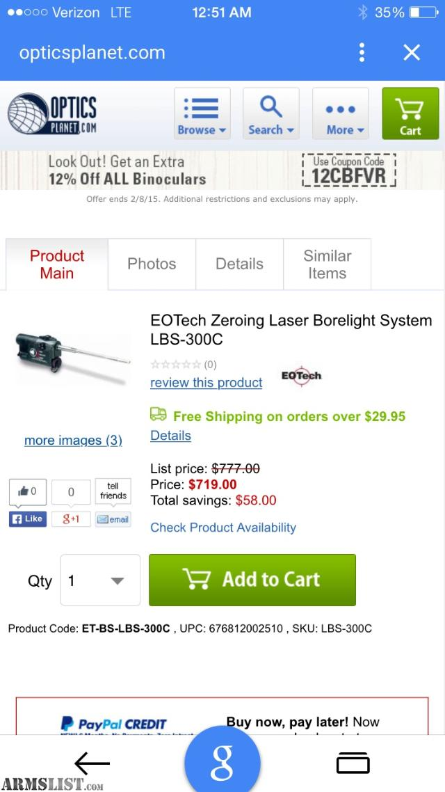 """ARMSLIST - For Sale: INSIGHT TECHNOLOGIES LASER BORELIGHT SYSTEM """"LBS"""""""