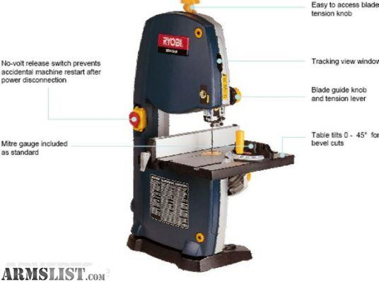Armslist For Sale Trade Ryobi Table Top Band Saw With Light Like New Great Deal