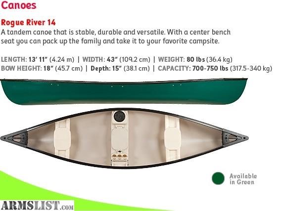 Armslist For Sale Trade Rogue River 14 Canoe