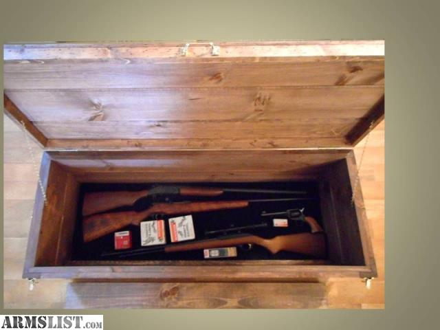 Sale rustic wood gun rack wall shelf hidden secret compartment rifle