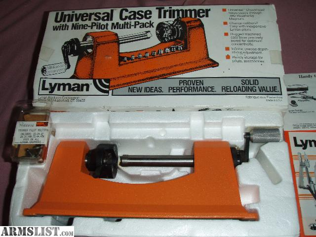 lyman universal case trimmer instructions