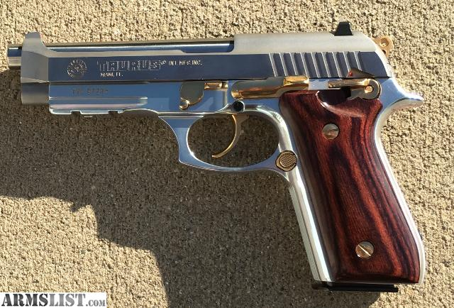 ARMSLIST - For Trade: Taurus PT92 AFS Stainless with Gold Accents