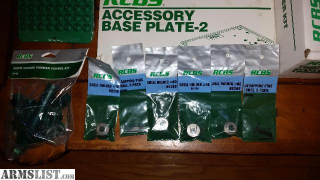 FOR SALE: RCBS RELOADING PRESS, DIES AND ACCESSORIES  BRAND NEW